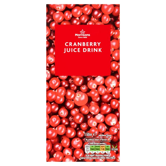 Morrisons Reduced Sugar Cranberry Juice