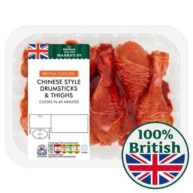 Morrisons morrisons chinese chicken drumstick and thighs 600g product