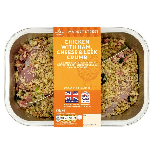 Morrisons morrisons chicken with ham cheese and leek 370g product