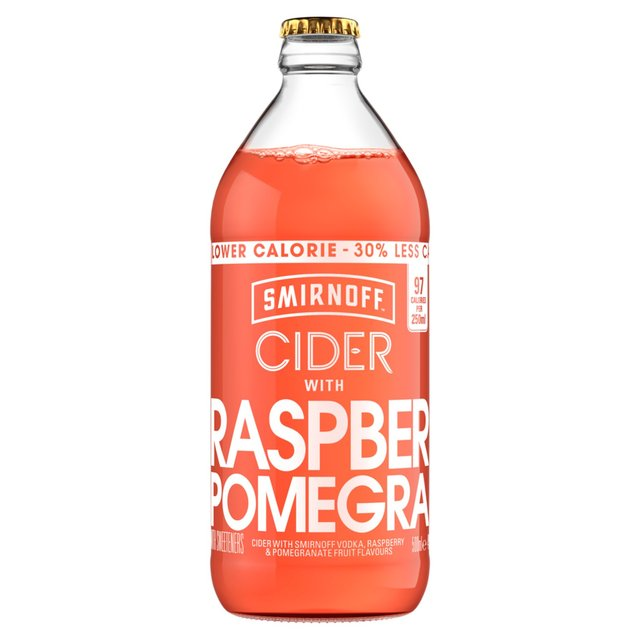 Smirnoff Cider With Raspberry & Pomegranate