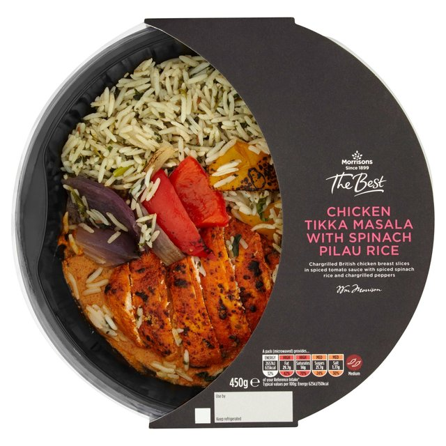 Morrisons: Morrisons The Best Chicken Tikka Masala With Pilau Rice ...
