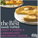 Morrisons The Best Goats Cheese & Caramelised Onion Quiche