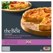 Morrisons The Best British Maple Bacon & Cheddar Quiche