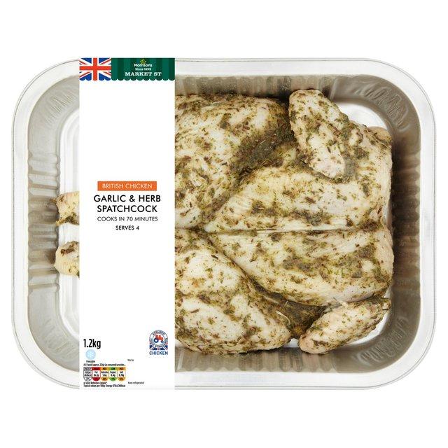 Morrisons: Morrisons Garlic & Herb Spatchcock Chicken 1.2kg(Product ...