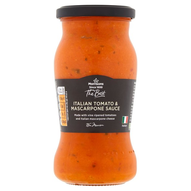 Morrisons The Best Tomato & Mascarpone Pasta Sauce