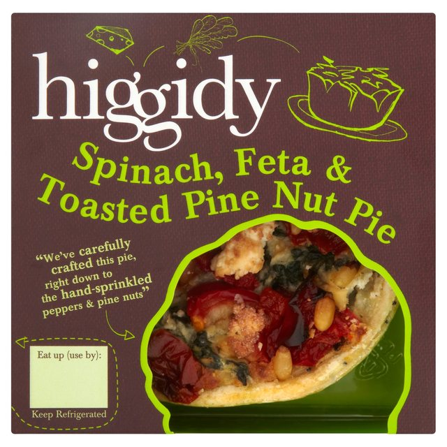 ... Higgidy Spinach, Feta & Toasted Pine Nut Pie 270g(Product Information