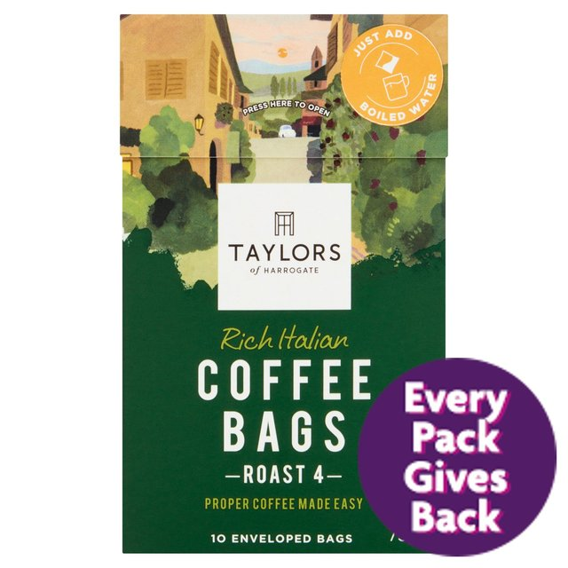 Taylors of Harrogate Rich Italian Coffee Bags 10s