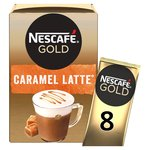 Nescafe Gold Caramel Latte Coffee 8 Sachets x 17g