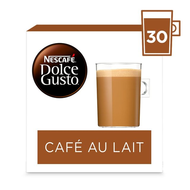 morrisons nescafe dolce gusto cafe au lait pods 30s 300g product information. Black Bedroom Furniture Sets. Home Design Ideas