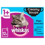 Whiskas 1+ Years Creamy Soups Fish Selection