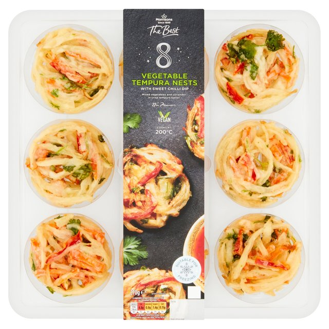 Morrisons The Best Vegetable Tempura Nests With Sweet Chilli Dip