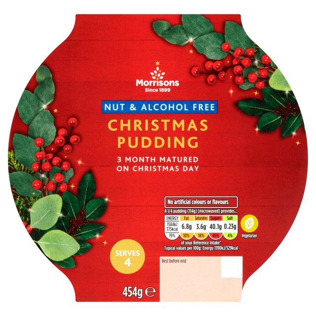 Morrisons Nut And Alcohol Free Christmas Pudding