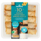 Morrisons Vegetable Spring Rolls 10 Pack