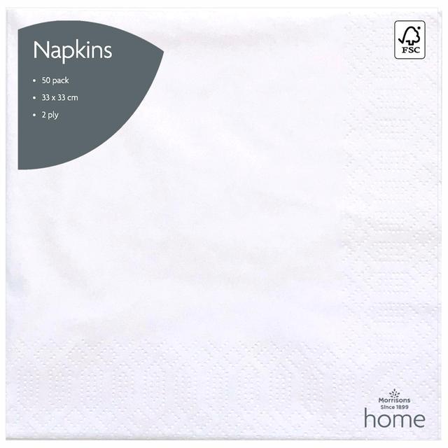 Morrisons White Napkins