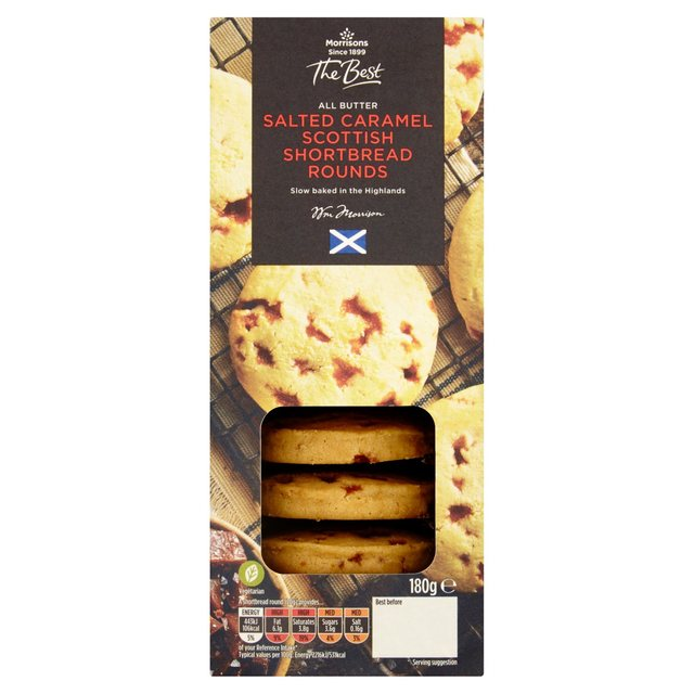 Morrisons The Best Shortbread Rounds Salted Caramel 180G