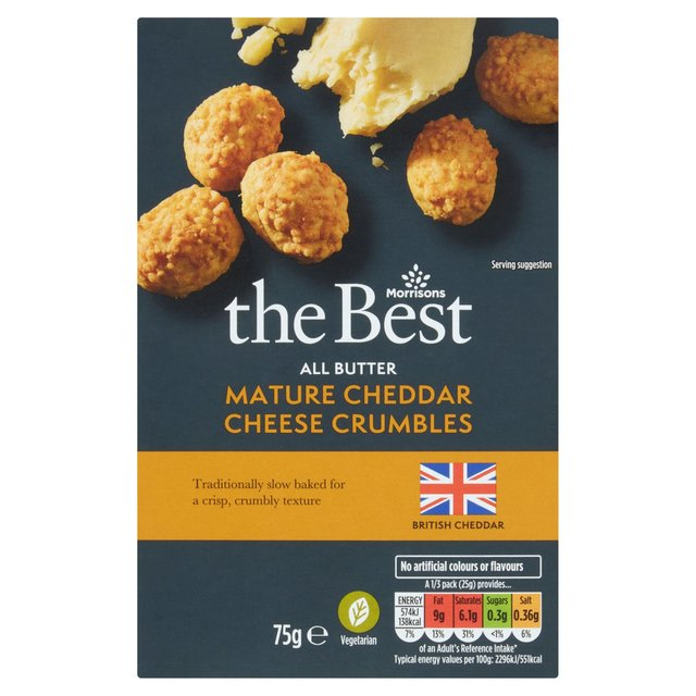 Morrisons The Best All Butter Cheddar Cheese Crumbles