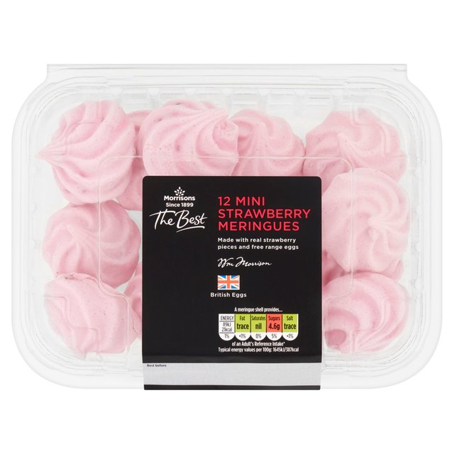 Morrisons The Best Mini Strawberry Meringues