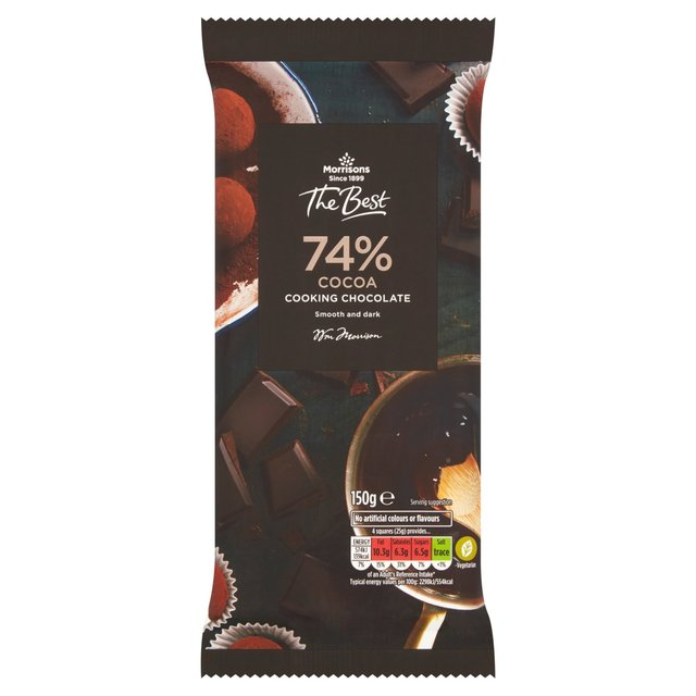 Morrisons The Best Dark 74% Cooking Chocolate