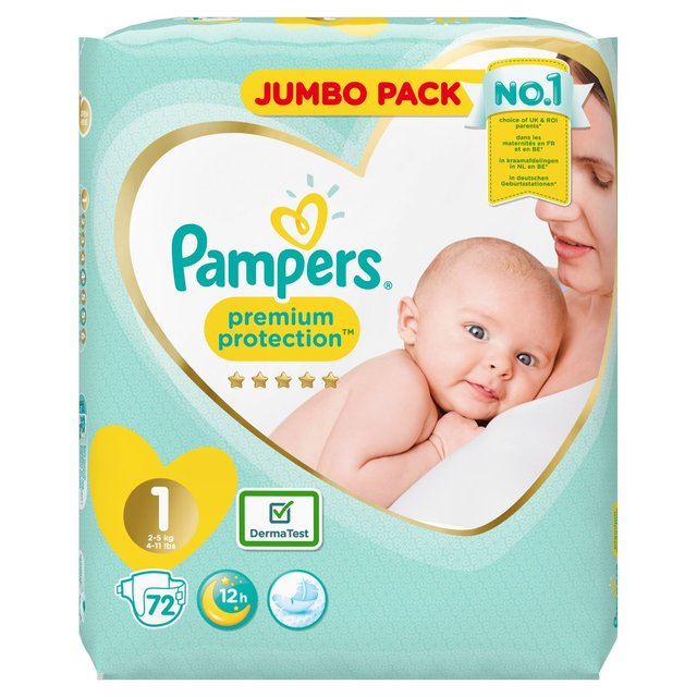 Pampers New Baby Size 1 Jumbo Pack