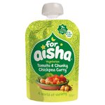 For Aisha Vegetarian Tomato And Chunky Chickpea Curry Baby Food