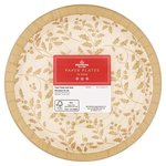 Morrisons Gold Holly Paper Plates