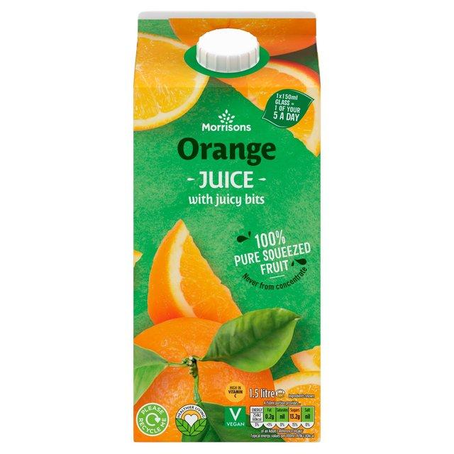 Morrisons 100% Orange Juice With Bits