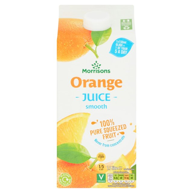 Morrisons 100%  Smooth Orange Fruit Juice