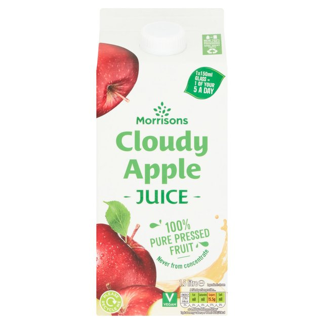 Morrisons Cloudy Apple 100% Fruit Juice