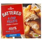 Morrisons 4 Battered Chunky Cod Fillet