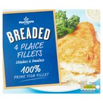 Morrisons 4 Breaded Plaice Fillets