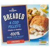 Morrisons 4 Chunky Breaded Cod Fillets