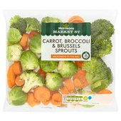 Morrisons Carrots Broccoli & Brussels Sprouts