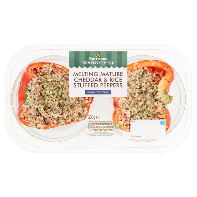 Morrisons Cheddar & Rice Stuffed Peppers 2 Pack