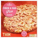 Morrisons Cheese & Ham Thin Pizza