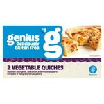 Genius Roasted Vegetable Quiche 2 Pack