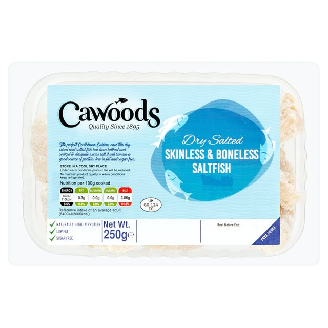 Cawoods Skinless And Boneless Dried Salt Fish
