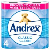 Andrex Classic Clean Toilet Tissue 4 Rolls