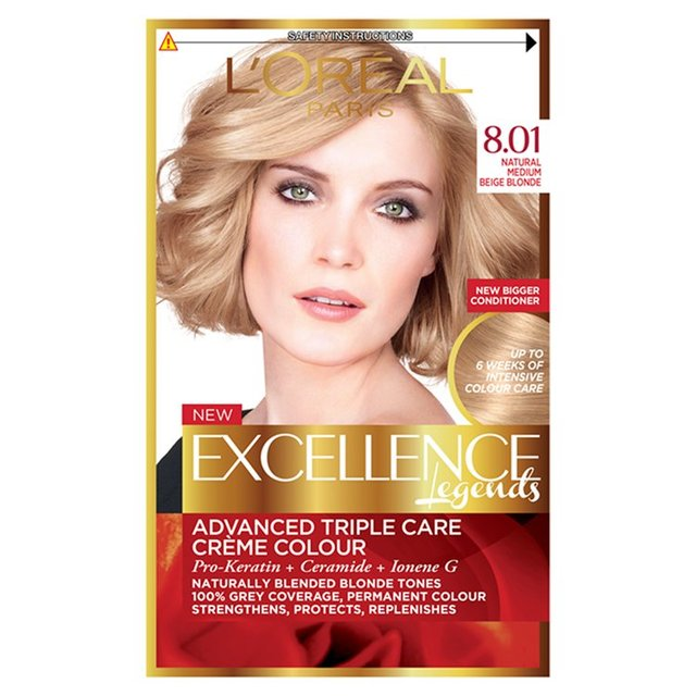L'Oreal Paris Excellence Legends Natural Medium Beige Blonde 8.01