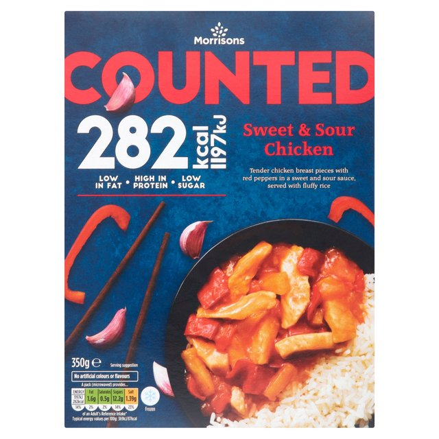 Morrisons Counted Sweet & Sour Chicken With Rice