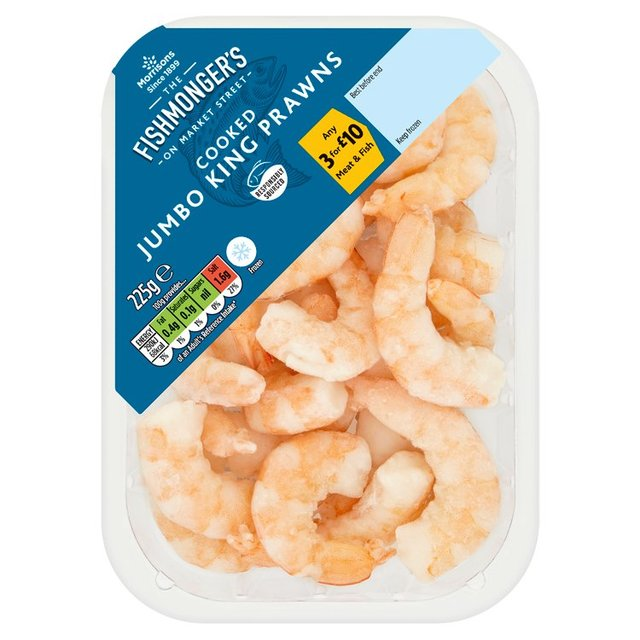 Morrisons Frozen Cooked Jumbo King Prawns
