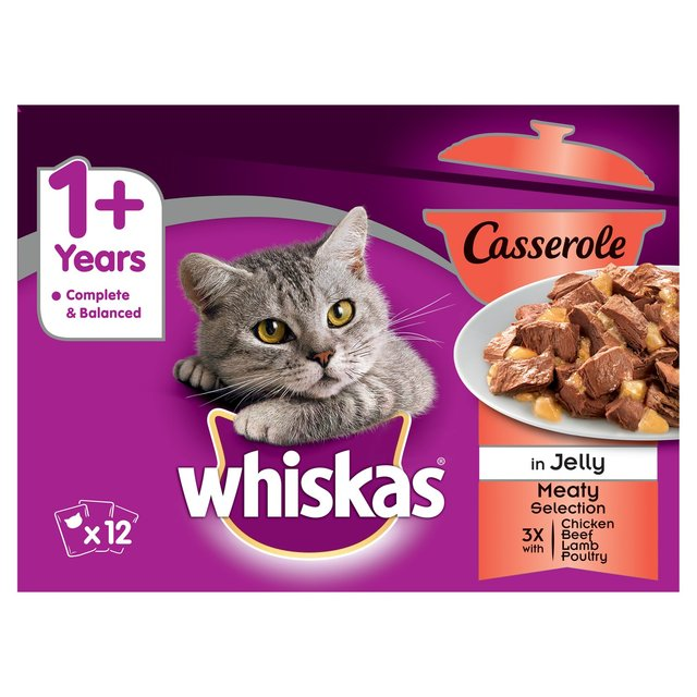 Whiskas Complete Casserole 1+ Years Meat Selection