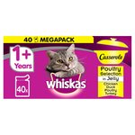 Whiskas Casserole 1+ Years Poultry Selection 40 pack