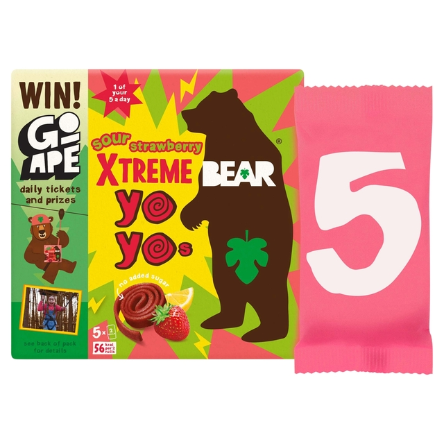 Bear Yoyo Sours Strawberry And Apple