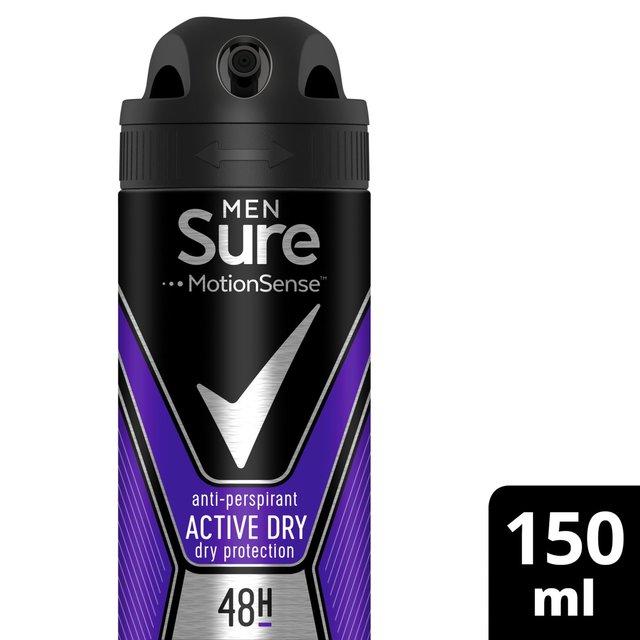 Sure Men Active Dry Aerosol Anti-perspirant Deodorant