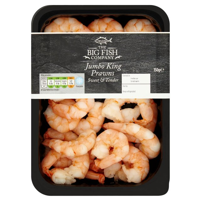 morrisons big fish company jumbo giant prawns 150g