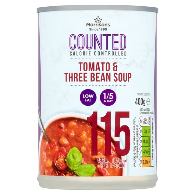 Morrisons Counted Tomato And 3 Bean Soup