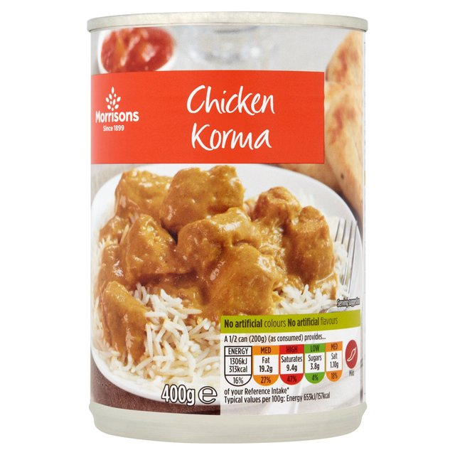 Morrisons Morrisons Chicken Korma 400gproduct Information
