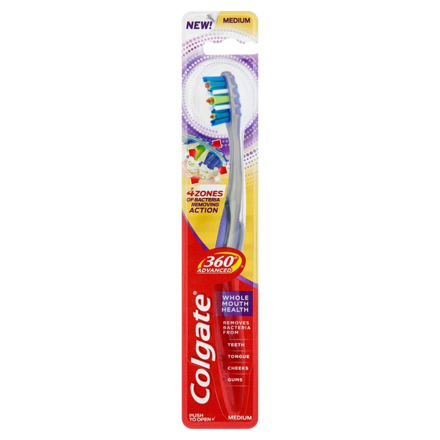 Colgate 360 Advanced Whole Mouth Health Medium Toothbrush