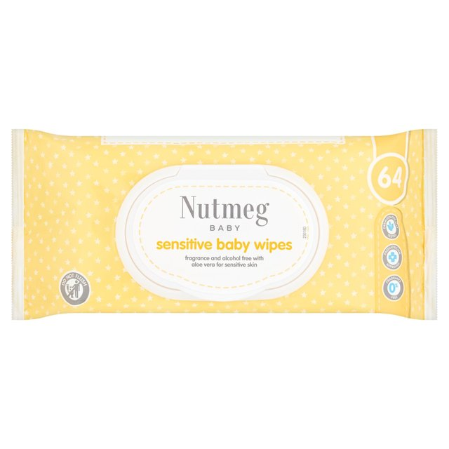 Nutmeg Fragrance Free Sensitive Baby Wipes
