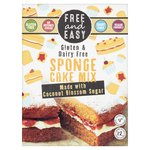 Free & Easy Gluten And Dairy Free Sponge Cake Mix Coconut Blossom Sugar